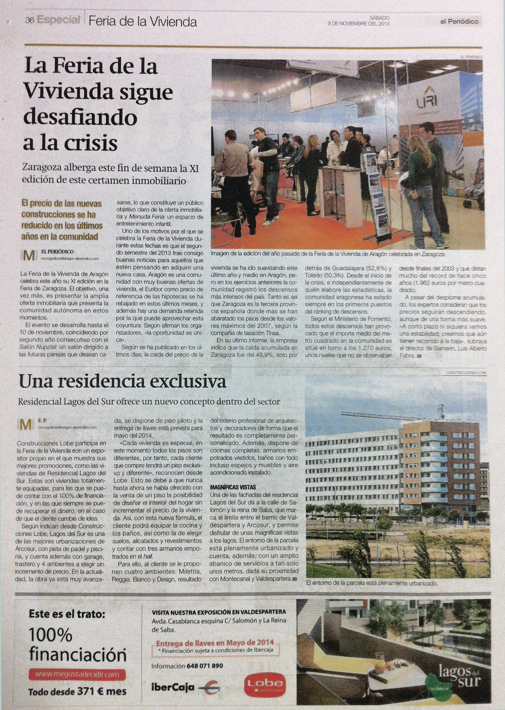 elPeriodico 09noviembre2013_FeriaVivienda_noticia
