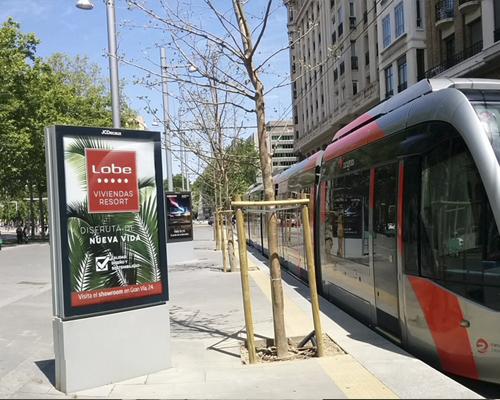 Mupi tranvía Zaragoza