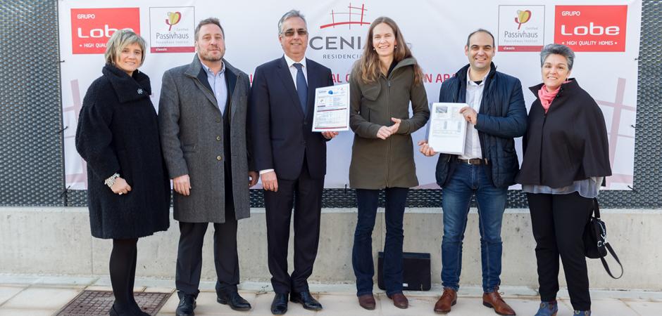 Entrega Certificado Passivhaus Residencial SCENIA II